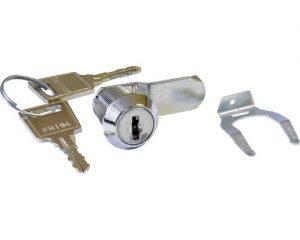 Briefkastenschlüssel und Schloss