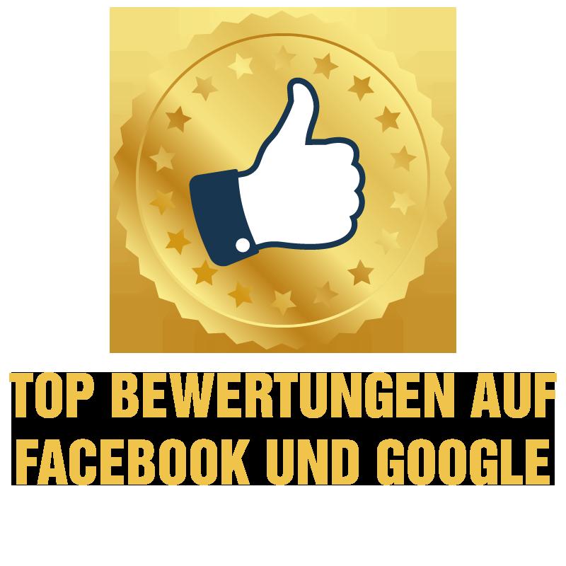 Top Bewertungen auf Facebook und Google